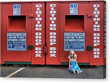 Canvas Print featuring the photograph Drop Box by Steven Richman
