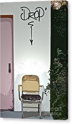 Drop Canvas Print by Gwyn Newcombe