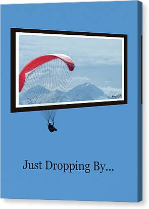 Dropping In Hang Glider Canvas Print by Cindy Wright