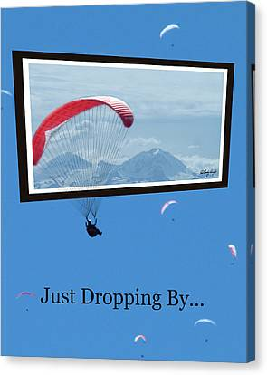 Dropping In Hang Gliders Canvas Print by Cindy Wright