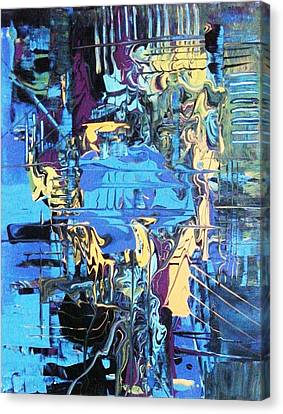 Drowning In The Blues Canvas Print