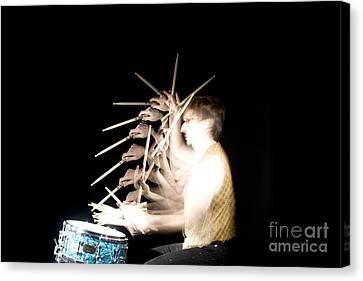 Stroboscopic Image Canvas Print - Drummer by Ted Kinsman