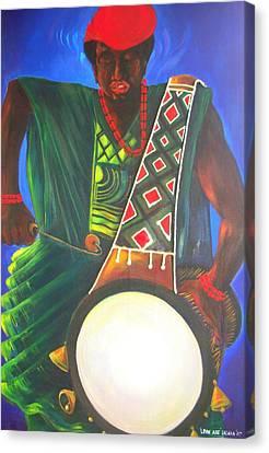Drummerboy Canvas Print by Leon Salako
