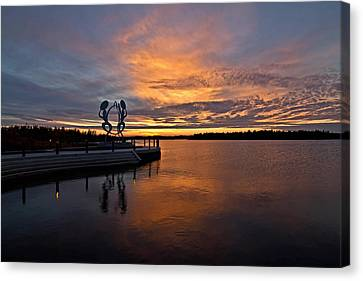 Drummers Sunset Canvas Print