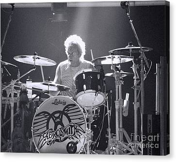Drumming Canvas Print by Traci Cottingham