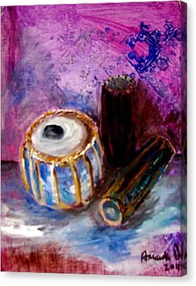Drums 4 Canvas Print by Amanda Dinan