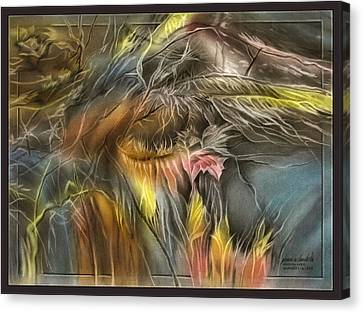Canvas Print featuring the pastel Dryleavescape 2009 by Glenn Bautista