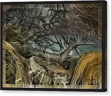 Canvas Print featuring the pastel Drytreescape 2009 by Glenn Bautista