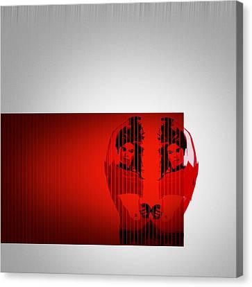 Brush Canvas Print - Dual by Naxart Studio