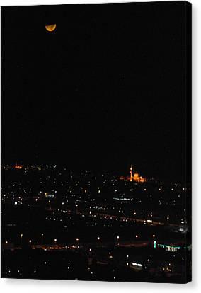 Canvas Print featuring the photograph Dubai At Night by Steven Richman
