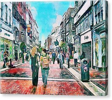 Urban Nature Study Canvas Print - Dublin Grafton Street by Yury Malkov