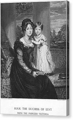 Duchess Of Kent & Victoria Canvas Print by Granger