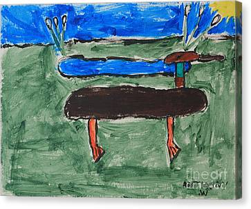 Phong Trinh Canvas Print - Duck And Pond By The Sea by Anthony White