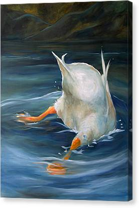 Duck Butt Canvas Print by Mary Sparrow