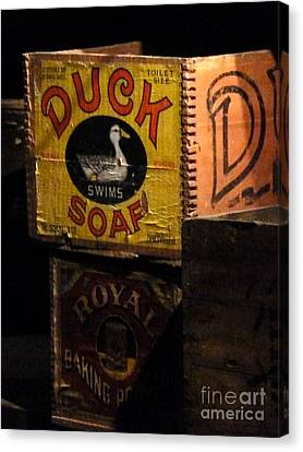 Canvas Print featuring the photograph Duck Soap by Newel Hunter