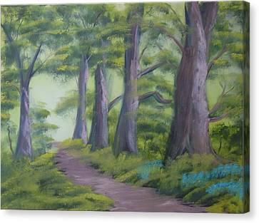 Canvas Print featuring the painting Duff House Path by Charles and Melisa Morrison