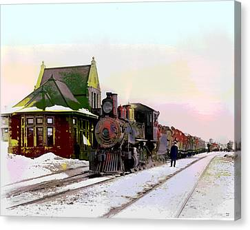 Duluth And Iron Range Railroad Canvas Print by Charles Shoup