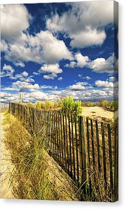Canvas Print featuring the photograph Dune Fence Me In by Jim Moore