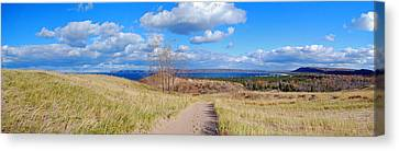 National Lakeshore Canvas Print - Dune Path To Glen Arbor by Twenty Two North Photography
