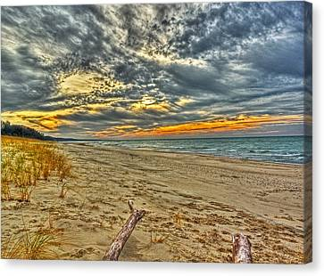 Canvas Print featuring the photograph Dunes Sunset I by William Fields