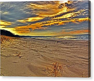 Canvas Print featuring the photograph Dunes Sunset II by William Fields