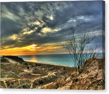 Canvas Print featuring the photograph Dunes Sunset IIi by William Fields