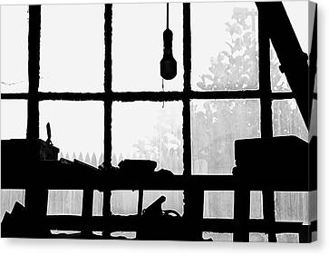 Canvas Print featuring the photograph Dunklee Window by Tom Singleton