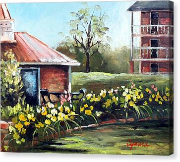 Dunleith In Yellow Canvas Print