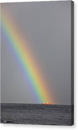 Dunoon, Argyll, Scotland Rainbow Canvas Print by John Short