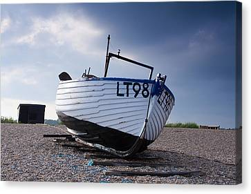 Dunwich Fishing Boat. Canvas Print by Ian Merton