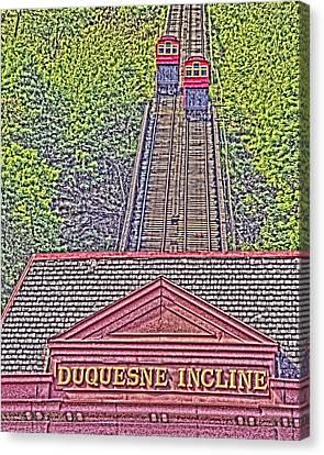 Duquesne Incline Art Canvas Print by Tom Leach