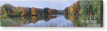 Canvas Print featuring the photograph Durand Lake by William Norton