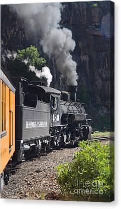 Durango And Silverton Historic Train Canvas Print by Stuart Wilson and Photo Researchers