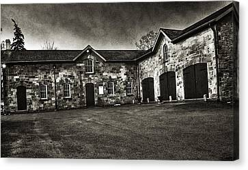 Durdurn Castle Coach House Bw Canvas Print by Larry Simanzik