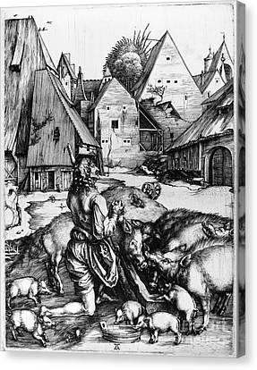 Durer: Prodigal Son, 1496 Canvas Print by Granger