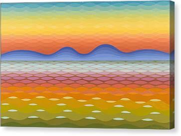 Dusk At Lake Balaton Canvas Print by Emil Parrag