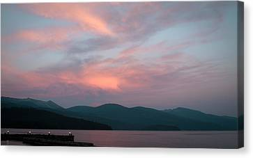 Dusk At Priest Lake Canvas Print by David Patterson