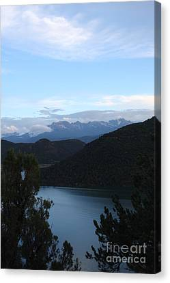 Dusk At Ridgway Reservoir Canvas Print by Marta Alfred