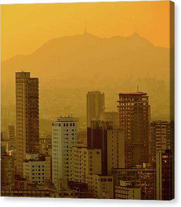 Dusk In Sao Paulo, Brazil Canvas Print by Alex Joukowski