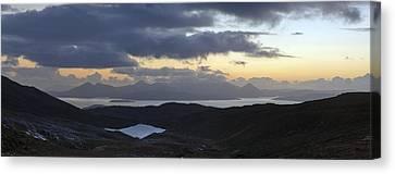 Dusk Panorama Of Skye Canvas Print by Gary Eason