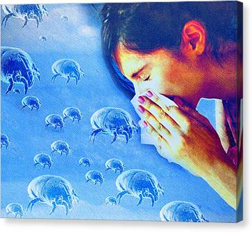 Dust Mite Allergy, Conceptual Artwork Canvas Print by Hannah Gal