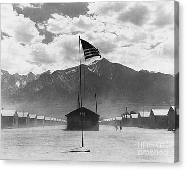 Dust Storm At War Relocation Center Canvas Print by Photo Researchers