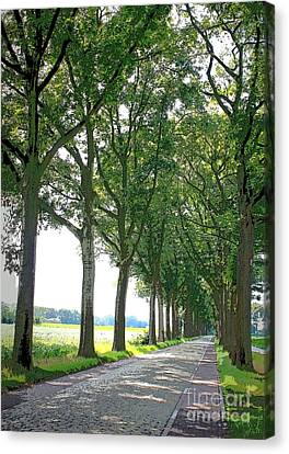 Dutch Road - Digital Painting Canvas Print by Carol Groenen