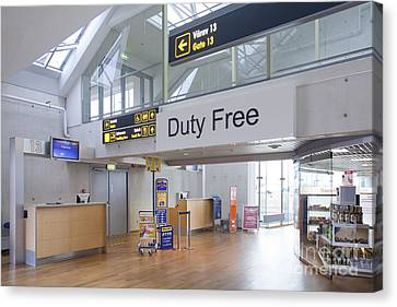 Duty Free Shop At An Airport Canvas Print by Jaak Nilson