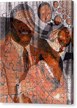 Haiti Canvas Print - Duvalier Et Bennette  by Fania Simon