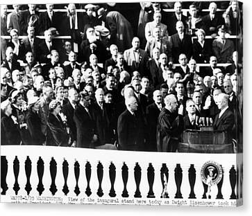 Dwight Eisenhower First Inauguration Canvas Print by Everett