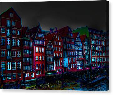 Dyke Road  -  Hamburg Canvas Print by EricaMaxine  Price