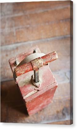 Dynamite Detonator Box. Plunger Handle Canvas Print by Bryan Mullennix
