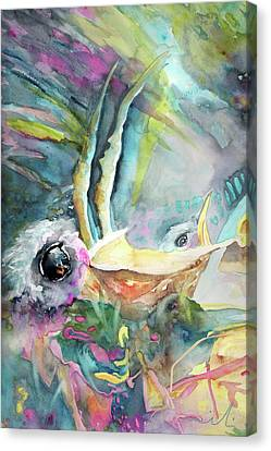 Dyptic Hungry 01 Canvas Print by Miki De Goodaboom