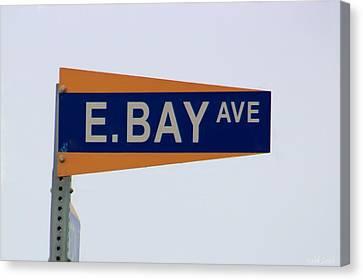 E. Bay Ave Canvas Print by Heidi Smith